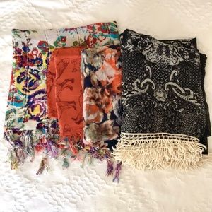 Bundle of fall scarves